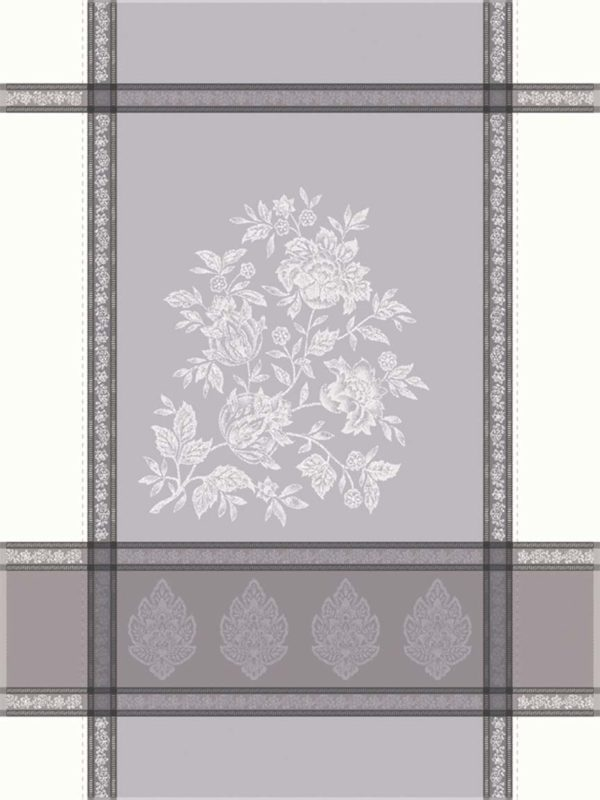 Torchons - Provence - Made in France -jacquard - Caprice écru gris