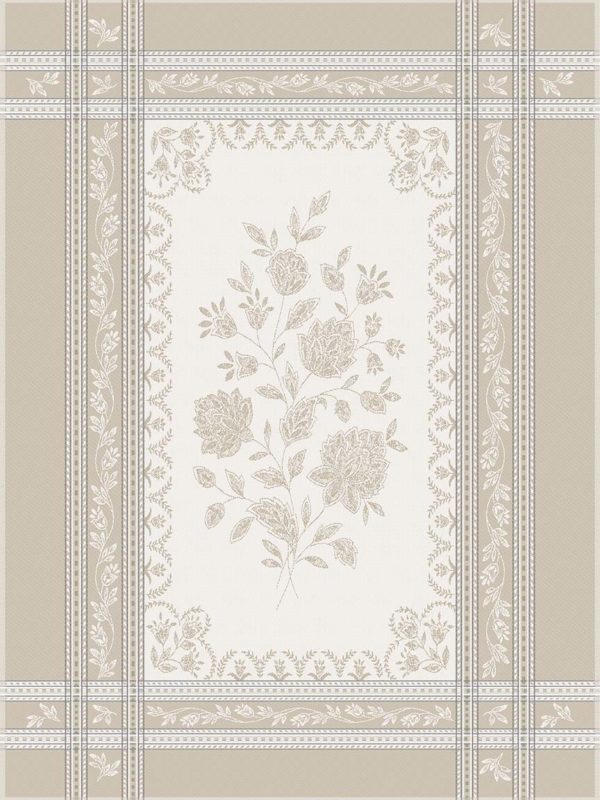 Torchons - Provence - Made in France -jacquard - Ramatuelle écru beige