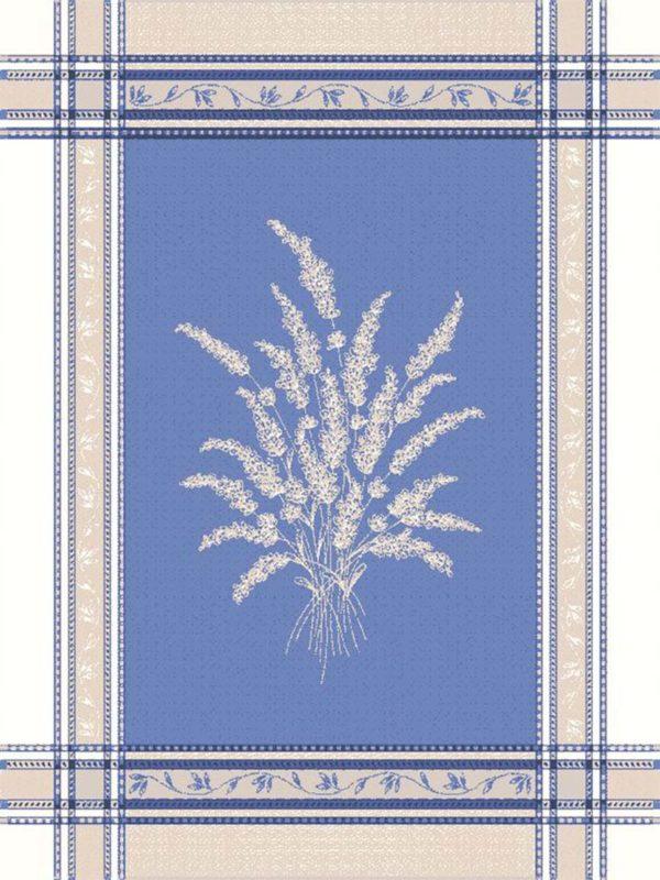 Torchons - Provence - Made in France -jacquard - sénanaque blanc bleu lavande