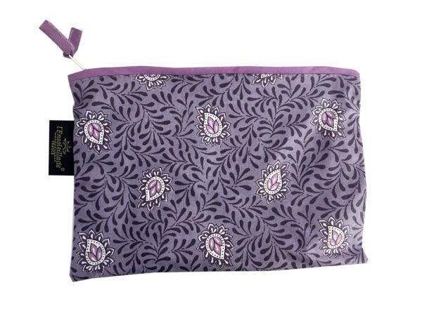 Bagagerie - Trousses enduite garlaban - violet parme petite
