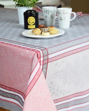 Nappes - provence - made in france - jacquard - beaulieu - rose