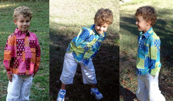 Chemises provençales- patch esterel- a carreaux garçon-enfant-adulte-couleurs