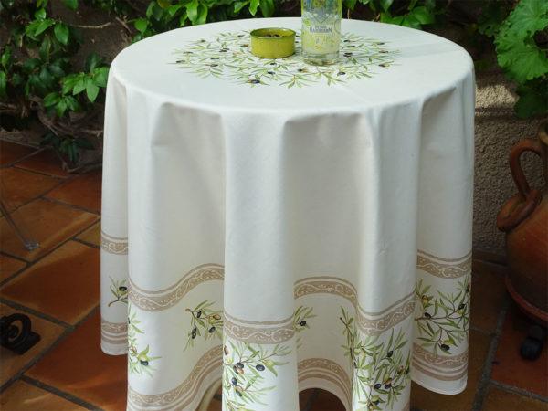 Nappes - provence - made in france -clos des oliviers - olive - écru