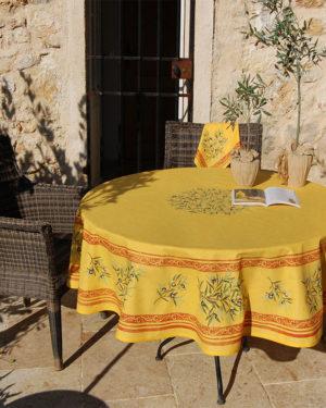 Nappes - provence - made in france -clos des oliviers - olive - safran