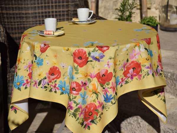 Nappes - provence - made in france -coquelicot - jaune