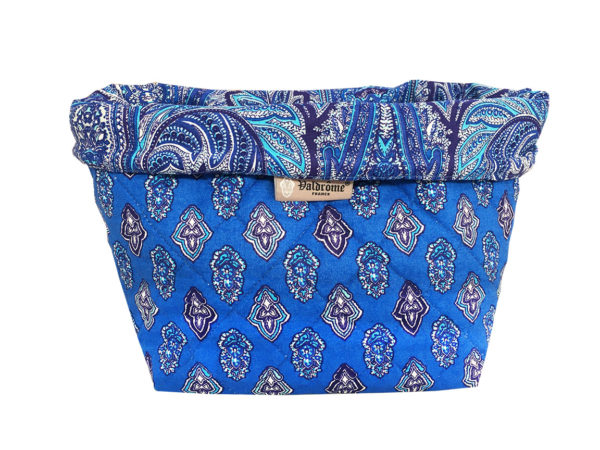 corbeille - matelassé - vide poche - Valdrôme - Provence - calisson bleu