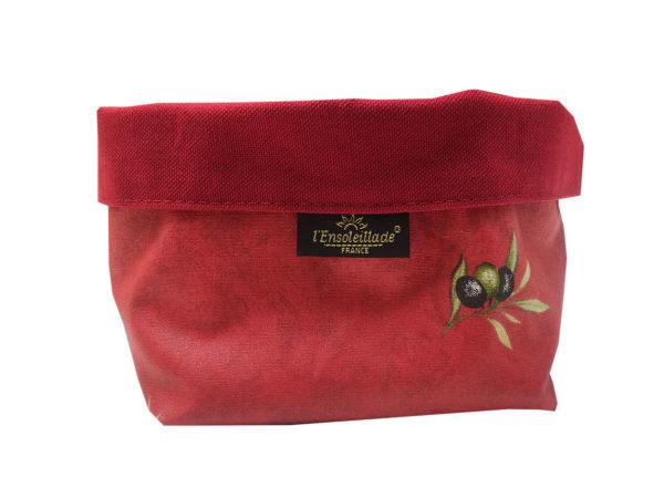 corbeilles enduites - Olives - vide poche - provence - rouge