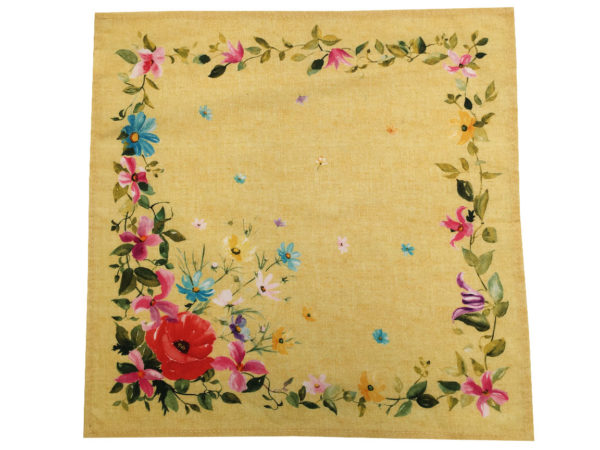 serviettes - provence - made in france -coton - coquelicot jaune